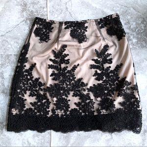 LF Seek the Label Mesh Lace Mini Skirt Black XS